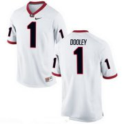 Wholesale Cheap Men's Georgia Bulldogs #1 Vince Dooley White Stitched College Football 2016 Nike NCAA Jersey