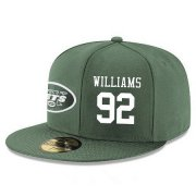 Wholesale Cheap New York Jets #92 Leonard Williams Snapback Cap NFL Player Green with White Number Stitched Hat