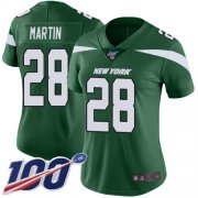 Wholesale Cheap Nike Jets #28 Curtis Martin Green Team Color Women's Stitched NFL 100th Season Vapor Limited Jersey