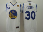 Wholesale Cheap Men's Golden State Warriors #30 Stephen Curry Chinese White Nike Authentic Jersey