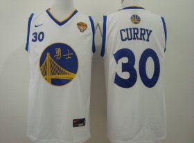 Wholesale Cheap Men\'s Golden State Warriors #30 Stephen Curry Chinese White Nike Authentic Jersey