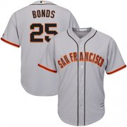 Wholesale Cheap Giants #25 Barry Bonds Grey Road Cool Base Stitched Youth MLB Jersey