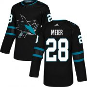 Wholesale Cheap Adidas Sharks #28 Timo Meier Black Alternate Authentic Stitched Youth NHL Jersey