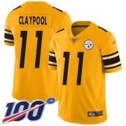 Wholesale Cheap Nike Steelers #11 Chase Claypool Gold Youth Stitched NFL Limited Inverted Legend 100th Season Jersey