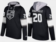 Wholesale Cheap Kings #20 Luc Robitaille Black Name And Number Hoodie