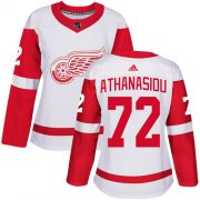 Wholesale Cheap Adidas Red Wings #72 Andreas Athanasiou White Road Authentic Women's Stitched NHL Jersey