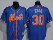 Wholesale Cheap Mets #30 Nolan Ryan Blue New Cool Base Alternate Home Stitched MLB Jersey