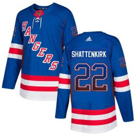 Wholesale Cheap Adidas Rangers #22 Kevin Shattenkirk Royal Blue Home Authentic Drift Fashion Stitched NHL Jersey
