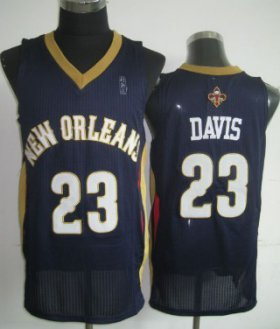 Wholesale Cheap New Orleans Pelicans #23 Anthony Davis Navy Blue Swingman Jersey