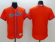 Wholesale Cheap Mets Blank Orange Flexbase Authentic Collection Los Mets Stitched MLB Jersey