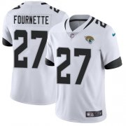Wholesale Cheap Nike Jaguars #27 Leonard Fournette White Men's Stitched NFL Vapor Untouchable Limited Jersey