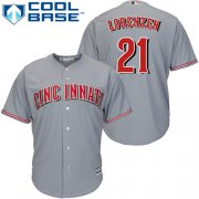 Wholesale Cheap Reds #21 Michael Lorenzen Grey Cool Base Stitched Youth MLB Jersey