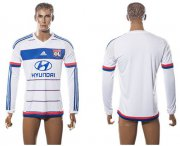 Wholesale Cheap Lyon Blank Home Long Sleeves Soccer Club Jersey