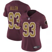 Wholesale Cheap Nike Redskins #93 Jonathan Allen Burgundy Red Alternate Women's Stitched NFL Vapor Untouchable Limited Jersey