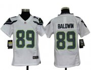 Wholesale Cheap Nike Seahawks #89 Doug Baldwin White Youth Stitched NFL Elite Jersey