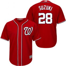 Wholesale Cheap Nationals #28 Kurt Suzuki Red New Cool Base Stitched MLB Jersey