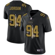 Wholesale Cheap New Orleans Saints #94 Cameron Jordan Men's Nike Team Logo Dual Overlap Limited NFL Jersey Black