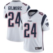 Wholesale Cheap Nike Patriots #24 Stephon Gilmore White Men's Stitched NFL Vapor Untouchable Limited Jersey