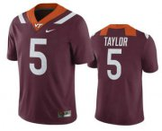 Wholesale Cheap Men's Virginia Tech Hokies #5 Tyrod Taylor Maroon College Football Nike Jersey