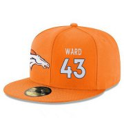 Wholesale Cheap Denver Broncos #43 T.J. Ward Snapback Cap NFL Player Orange with White Number Stitched Hat
