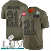 Wholesale Cheap Nike Chiefs #21 Bashaud Breeland Camo Super Bowl LIV 2020 Men's Stitched NFL Limited 2019 Salute To Service Jersey