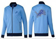 Wholesale Cheap NFL Detroit Lions Team Logo Jacket Light Blue_1
