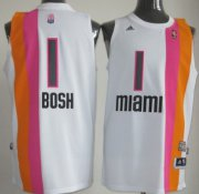 Wholesale Cheap Miami Floridians #1 Chris Bosh ABA Hardwood Classic Swingman White No Holes Jersey