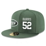 Wholesale Cheap New York Jets #52 David Harris Snapback Cap NFL Player Green with White Number Stitched Hat