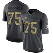 Wholesale Cheap Nike Steelers #75 Joe Greene Black Men's Stitched NFL Limited 2016 Salute to Service Jersey