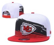 Wholesale Cheap Chiefs Team Logo White Red Adjustable Hat GS