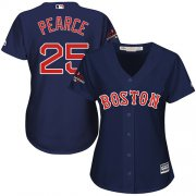 Wholesale Cheap Red Sox #25 Steve Pearce Navy Blue Alternate 2018 World Series Champions Women's Stitched MLB Jersey