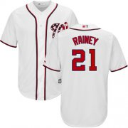 Wholesale Cheap Nationals #21 Tanner Rainey White New Cool Base Stitched MLB Jersey