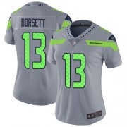 Wholesale Cheap Nike Seahawks #13 Phillip Dorsett Gray Women's Stitched NFL Limited Inverted Legend Jersey