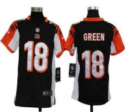 Wholesale Cheap Nike Bengals #18 A.J. Green Black Team Color Youth Stitched NFL Elite Jersey