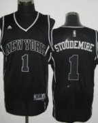 Wholesale Cheap New York Knicks #1 Amare Stoudemire All Black With White Swingman Jersey