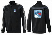 Wholesale Cheap NHL New York Rangers Zip Jackets Black-1