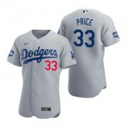Wholesale Cheap Los Angeles Dodgers #33 David Price Gray 2020 World Series Champions Jersey