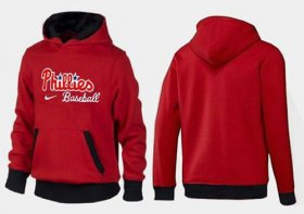 Wholesale Cheap Philadelphia Phillies Pullover Hoodie Red & Black