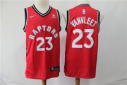 Wholesale Cheap Raptors 23 Fred Vanvleet Red Nike Swingman Jersey