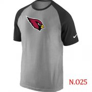 Wholesale Cheap Nike Arizona Cardinals Ash Tri Big Play Raglan NFL T-Shirt Grey/Black