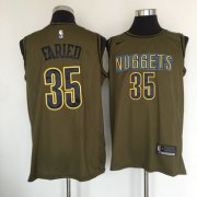 Wholesale Cheap Denver Nuggets #35 Kenneth Faried Olive Nike Swingman Jersey