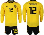 Wholesale Cheap Belgium #12 Mignolet Away Long Sleeves Soccer Country Jersey