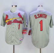 Wholesale Cheap Cardinals #1 Ozzie Smith Grey Cool Base Stitched MLB Jersey