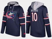 Wholesale Cheap Blue Jackets #10 Alexander Wennberg Navy Name And Number Hoodie