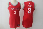 Wholesale Cheap Nike Houston Rockets #3 Chris Paul Red Women Swingman Jersey