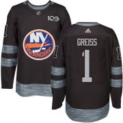 Wholesale Cheap Adidas Islanders #1 Thomas Greiss Black 1917-2017 100th Anniversary Stitched NHL Jersey