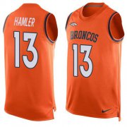 Wholesale Cheap Nike Broncos #13 KJ Hamler Orange Team Color Men's Stitched NFL Limited Tank Top Jersey