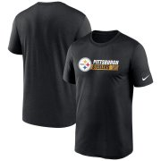 Wholesale Cheap Pittsburgh Steelers Nike Fan Gear Team Conference Legend Performance T-Shirt Black