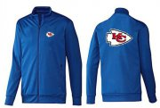 Wholesale NFL Kansas City Chiefs Team Logo Jacket Blue_2