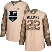 Wholesale Cheap Adidas Kings #22 Tiger Williams Camo Authentic 2017 Veterans Day Stitched NHL Jersey